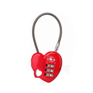 13325 Love Heart Shaped 3 Digit TSA Combination Luggage Lock