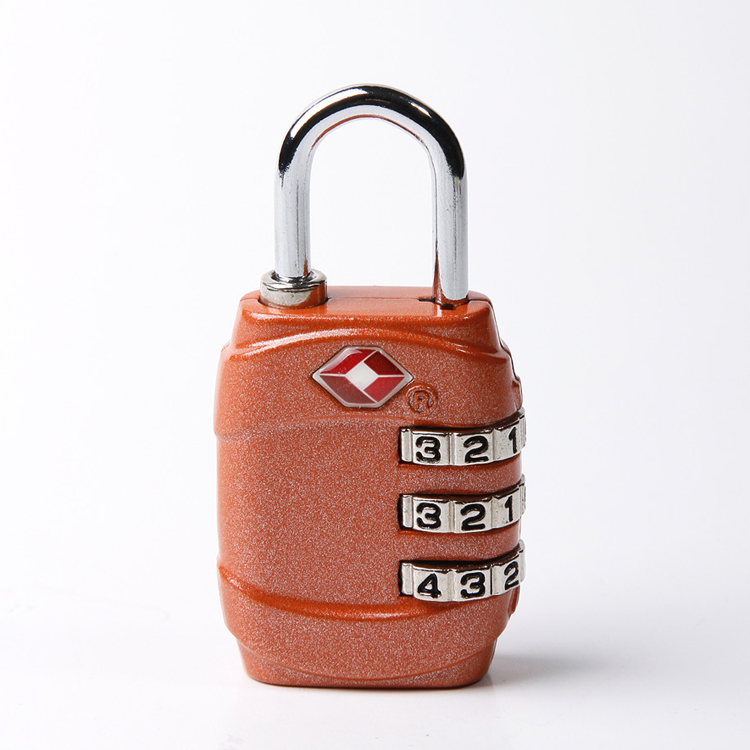 13004 TSA approved combination 3-dial travel luggage lock