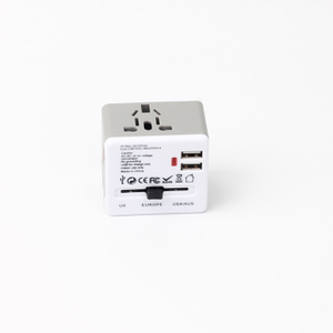13680A Universal Travel Adapter with 2 USB