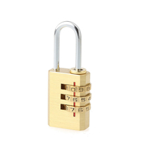 13001 3 Digital Combination Luggage Brass Lock
