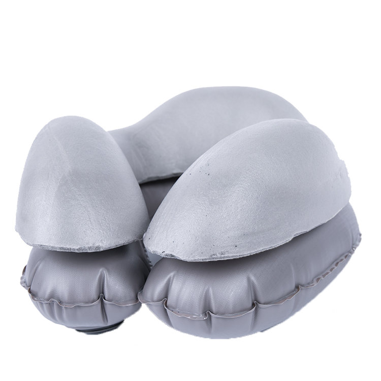 13482B3 CoolMax Semi-inflated Half Memory Foam Inflatable Neck Pillow