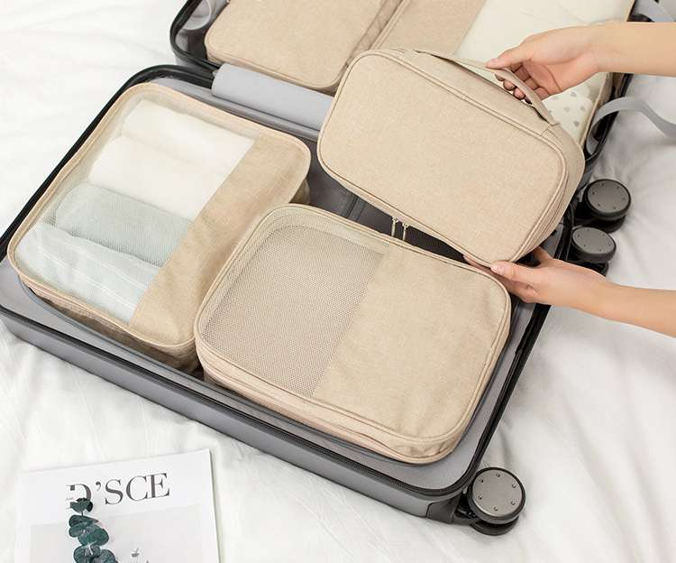 16282A Polyester Underwear Makeup Bag Travel Organizer